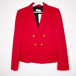 A.L.C. Red Hendrick Double Breasted Blazer